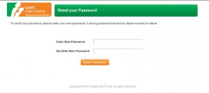 Reset the password
